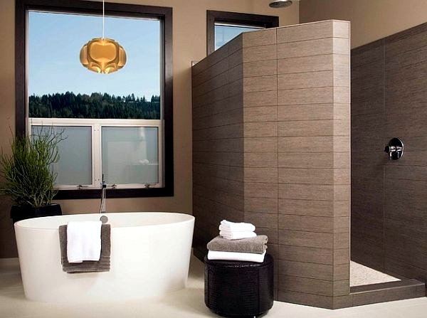 Walk in shower with glass enclosure - functional and fashionable