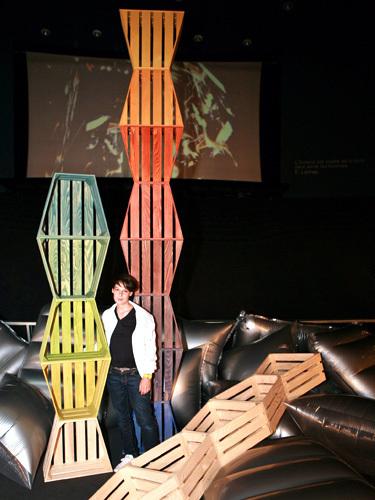 Euro pallet modular furniture designer Sibylle Stoeckli