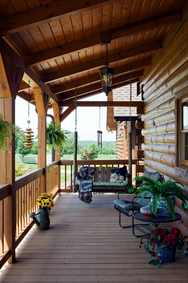 The wooden house covered porch - decorating ideas and ... on Wood Patio Ideas id=18565