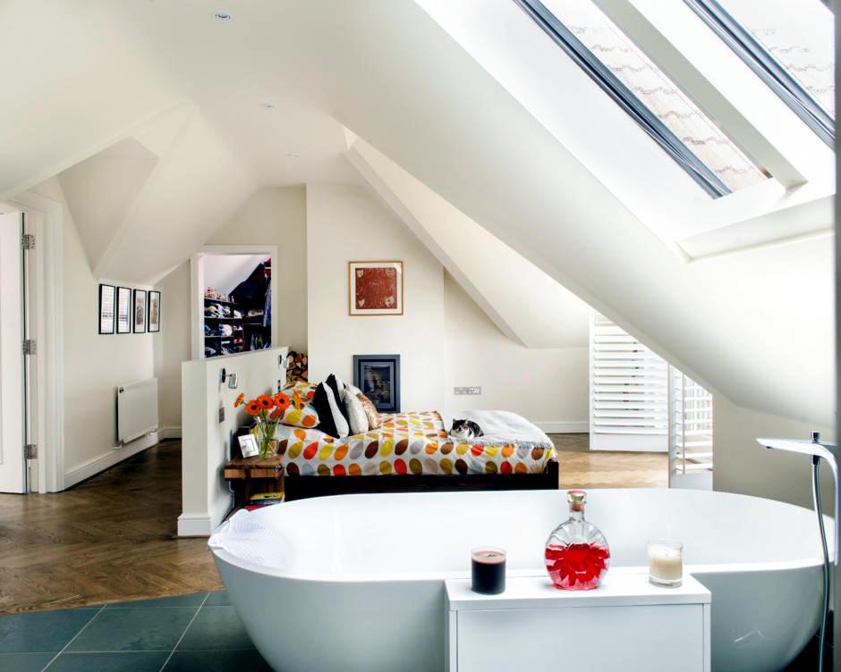 Bedroom With Open Bathroom Interior Design Ideas Ofdesign