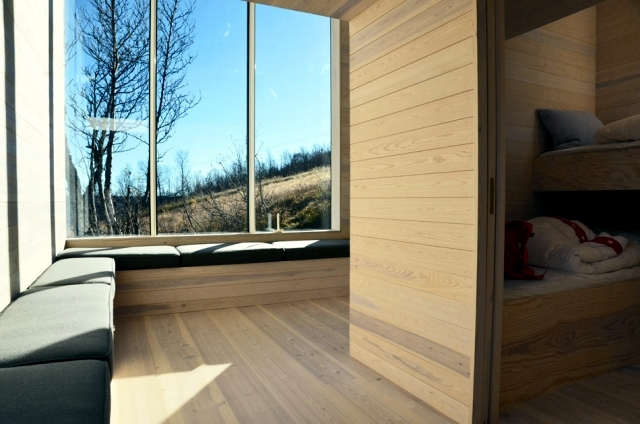 Modern wooden house in Norway offers a breathtaking panorama of mountains