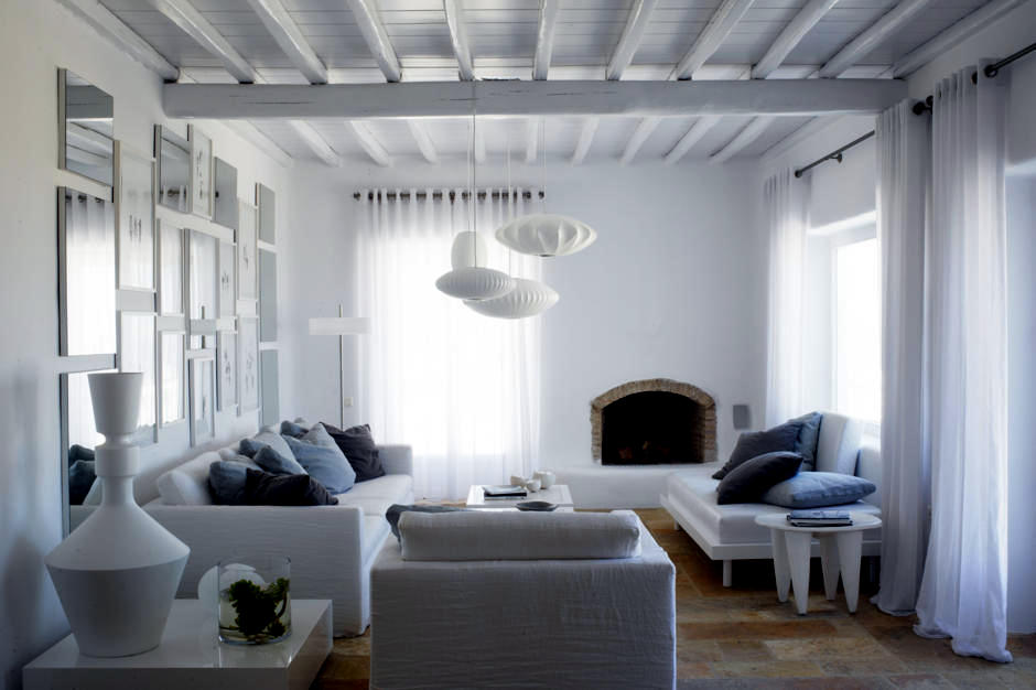 Sitting white in a modern country style interior design for Modern country style
