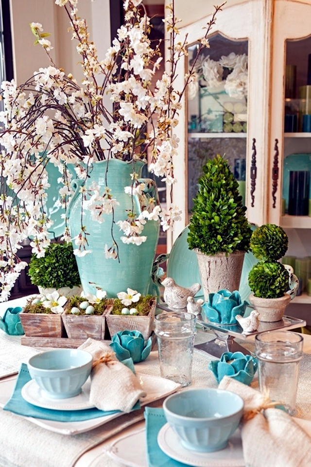 Make table decoration Easter itself – 25 ideas for colorful Easter ...