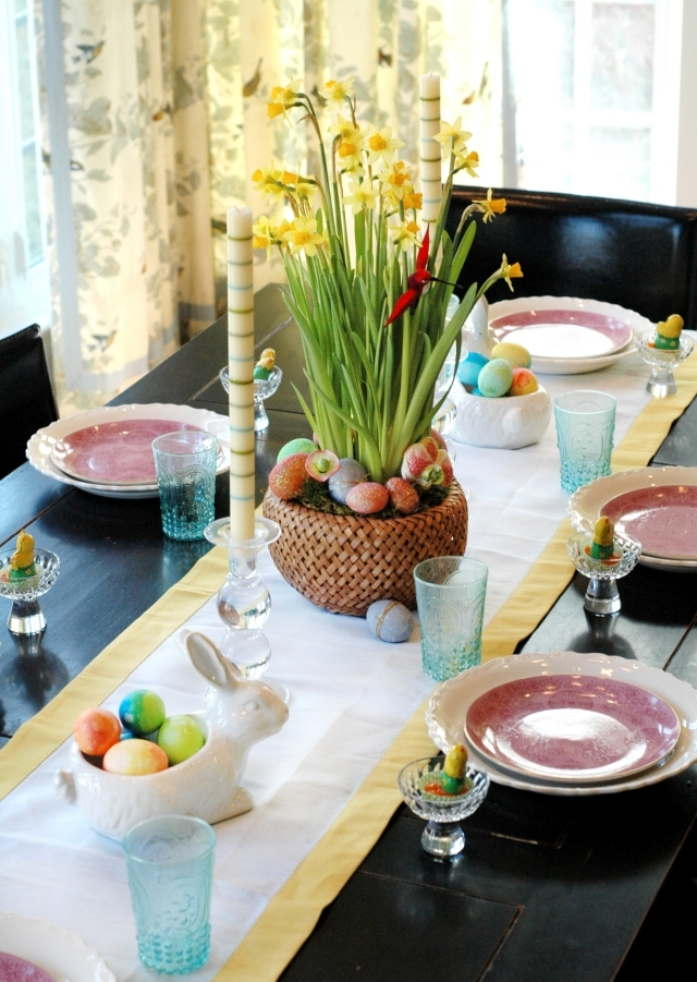 Make Table Decoration Easter Itself 25 Ideas For
