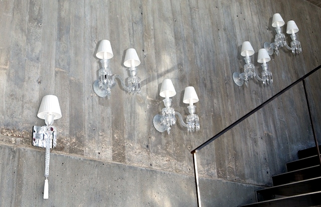 Glamorous crystal chandeliers and lamps Baccarat