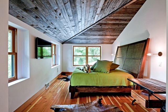 Charming Bedrooms Designed With A Sloping Roof Must Use The Available Space  Optimally So That The Roof Slope Does Not Limit The Functionality Of The  Room.