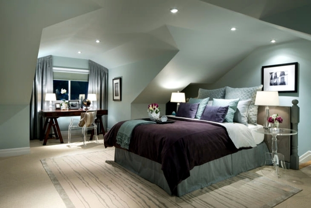Design rooms with pitched roof to feel good