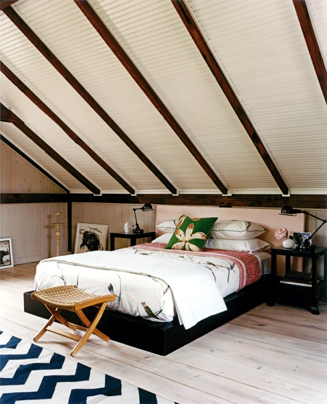 Small Attic Apartment Sloped Ceiling