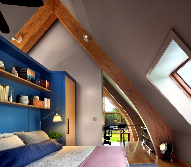design rooms with pitched roof to feel good - Room Design Home Roofs