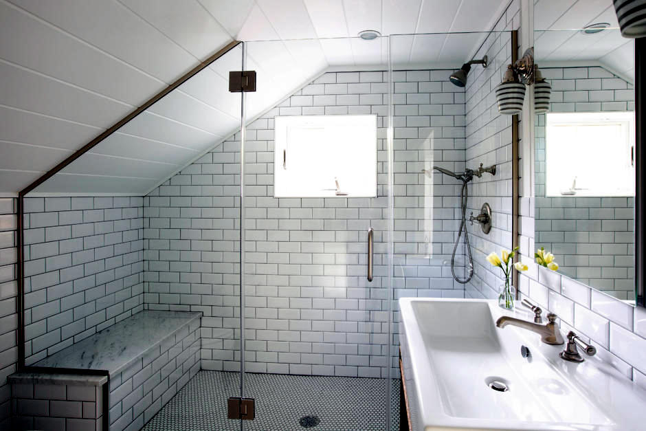 Use The Attic In A Small Bathroom Interior Design Ideas