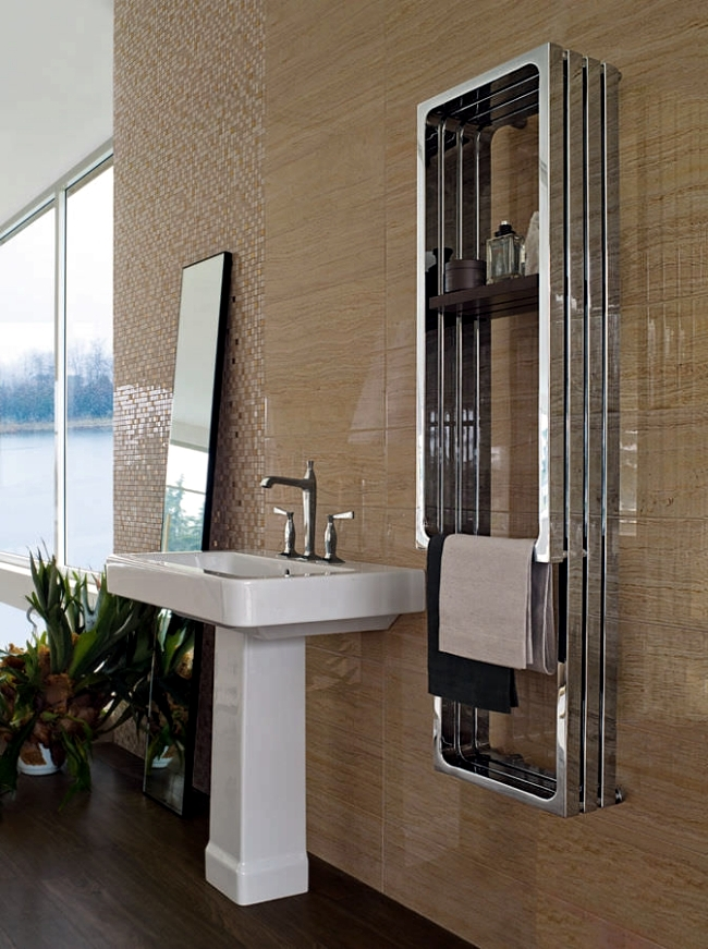 radiator design for Practical and stylish towels in the bathroom