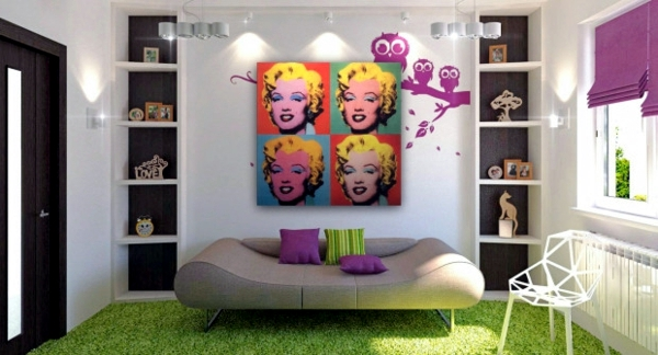 Pop Art Deco style - expressive and artistic