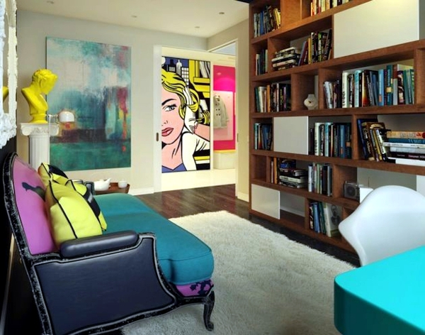 Pop Art Deco Style Expressive And Artistic Interior