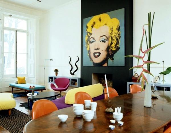 Pop Art Deco Style Expressive And Artistic Interior