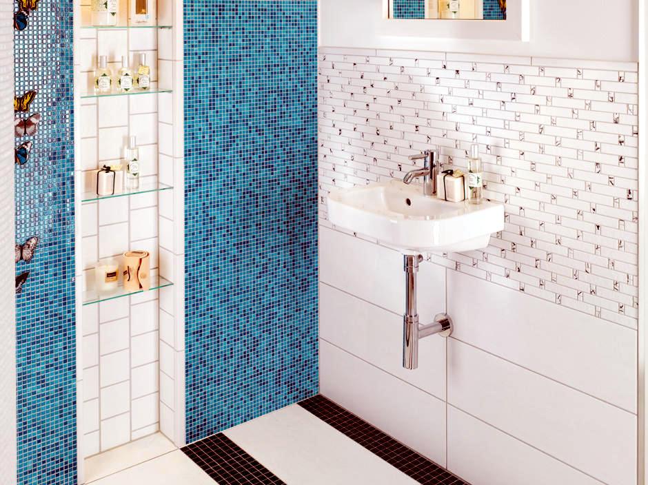 Caribbean feeling with turquoise mosaic tiles interior for Caribbean bathroom ideas