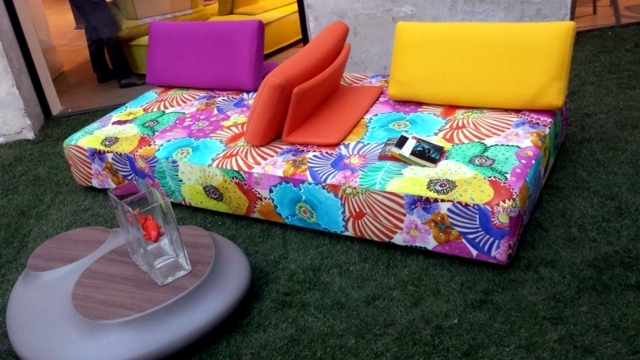The New Sofa Roche Bobois Furniture In Beautiful Colors Of Spring
