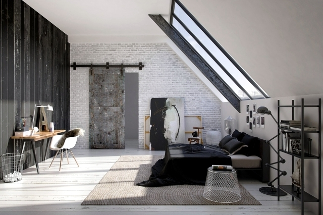 Industrial Chic Room. 20 Main Sources Of Inspiration For The Design Of  Modern Bedroom