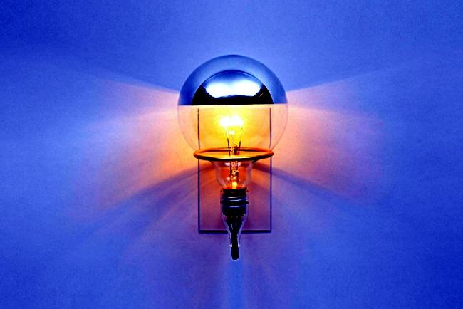 As minimalist wall lamp in the world by Brendan Ravenhill