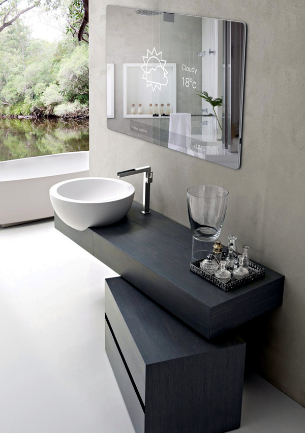 Innovative bathroom mirror bathroom - high tech product for the bathroom