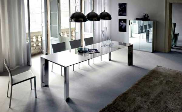Interior Design Ideas Minimalist White Dining Room Design