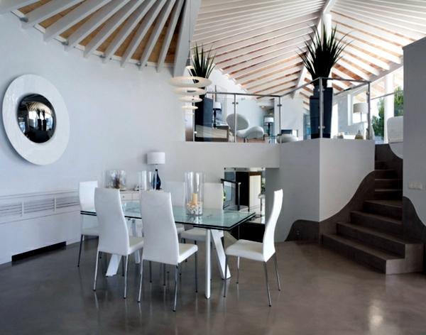 Interior design ideas minimalist white dining room design