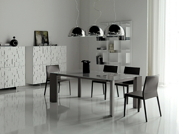 Interior design ideas minimalist white dining room design ...