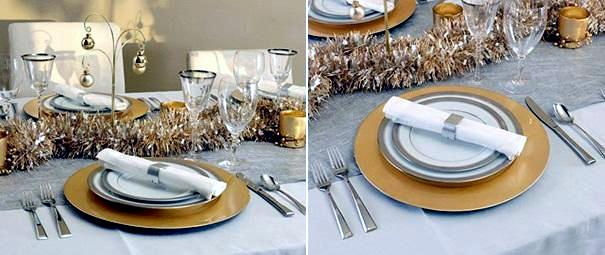 table decoration - Decorating With Silver And Gold For Christmas