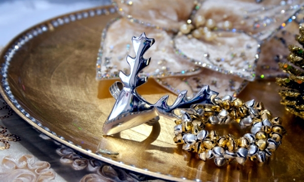 Christmas table in gold and silver - 22 ideas glamor