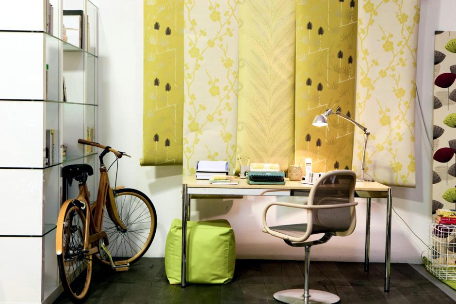 DIY: Patterned wallpaper wall decor unsealed | Interior Design Ideas ...