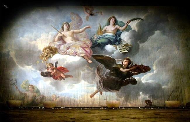 Classical paintings printed on rice paper - Wallpaper Artmurò