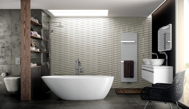 The design of the bathroom along with a special bathing experience