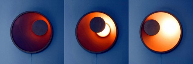 "Design wooden wall lamps - similar astronomical phenomena ""Kolo"""