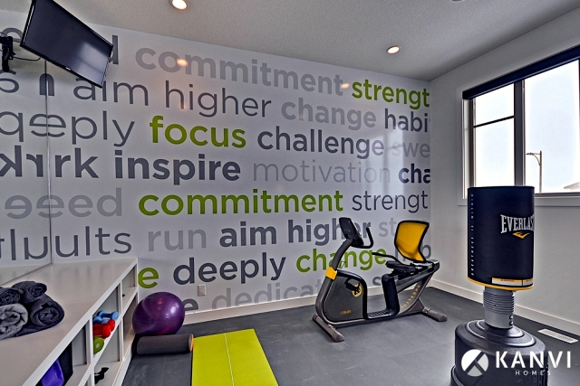 Planning and execution of ideas for home gym interior