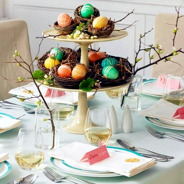 25 Ideas for Adorable Easter table decorations u2013 a visual treat. Spring table decoration : easter table setting ideas - pezcame.com