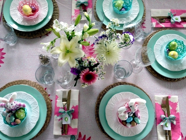 25 Ideas for Adorable Easter table decorations - a visual treat