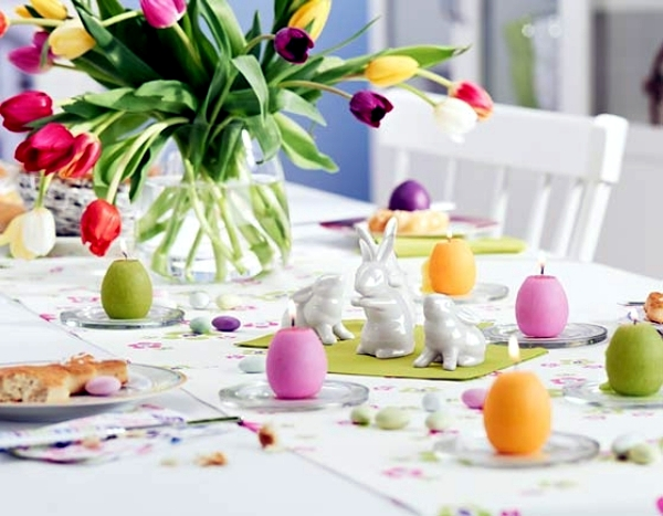 25 Ideas For Adorable Easter Table Decorations