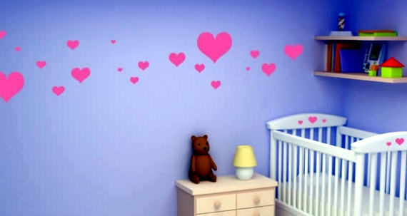 Wall stickers for baby room walls to awaken human life