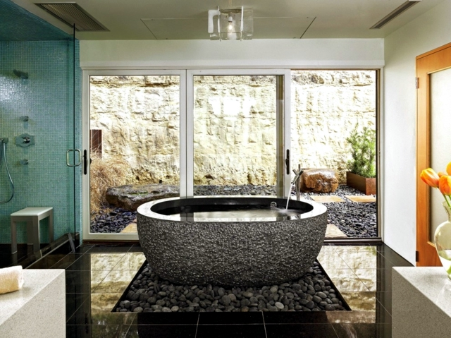 Exceptionnel 20 Design Ideas For Bathroom With Stone Tiles   By Refreshing Course!