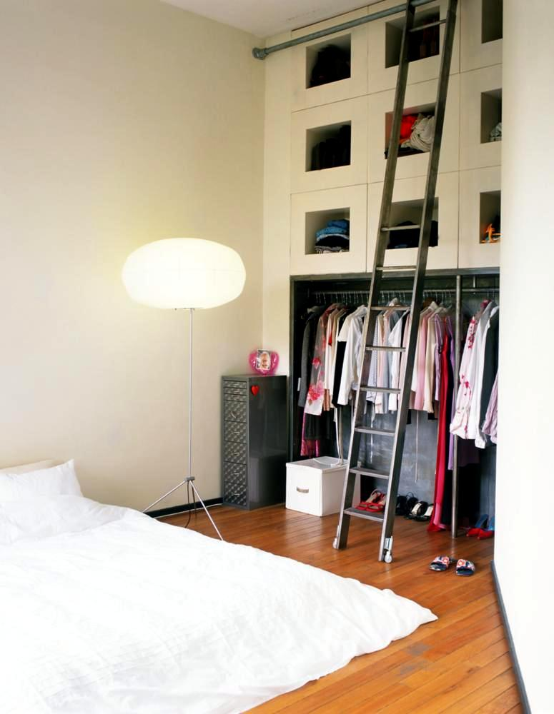 In The Closet Wall With Ladder Interior Design Ideas