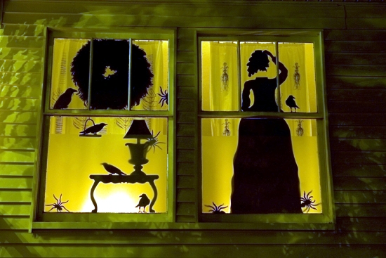 Spooky halloween decorating ideas with ghostly silhouettes for Child craft london crib instructions