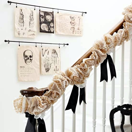 Spooky Halloween decorating ideas with ghostly silhouettes for crafts