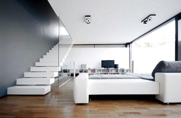 Pure White Minimalist Living Room   20 Modern Design Ideas For Home