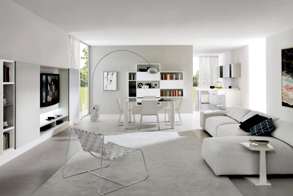 Pure White Minimalist Living Room 20 Modern Design