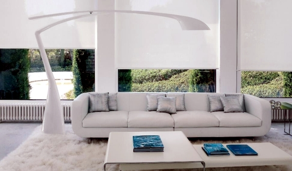 Pure white minimalist living room - 20 modern design ideas for home