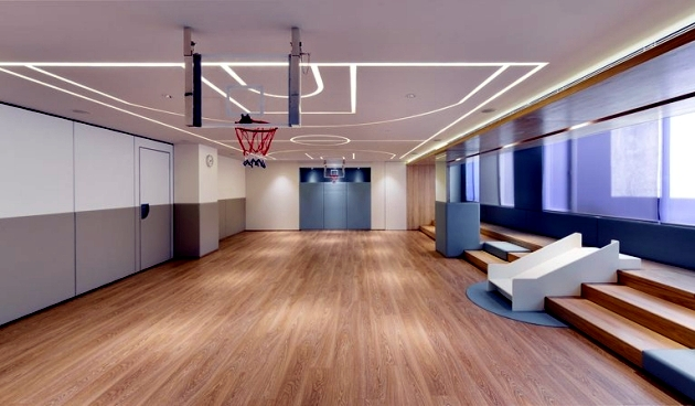 The interior design of a new learning center promotes learning ability