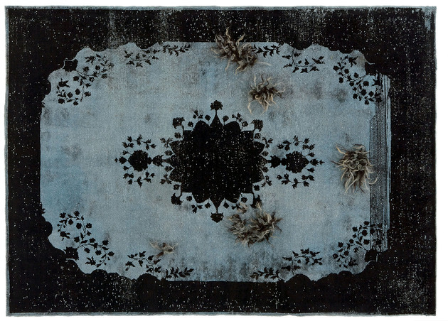 Rug hand-tufted mohair vintage look Golran