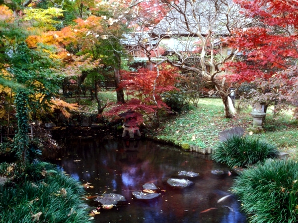 Landscaping Pond Banks : Of japanese garden stones trees and a style house