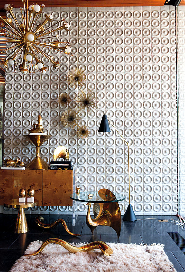 Hot Metallic Sheen In Home Decor