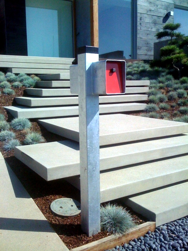 Modern concrete building stairs 22 ideas for interior for Exterior steps design