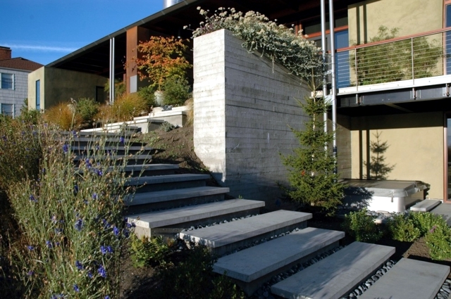 House Exterior Stair Tower : Modern concrete stairs ideas for interior and
